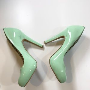 Jessica Simpson | Patent Leather Mint 5 Inch Heels